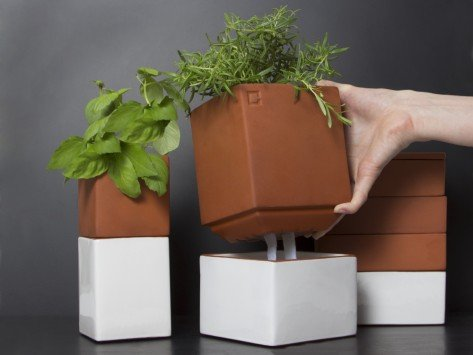 Self Watering Planters From Cult Kitchen Farming The Grommet