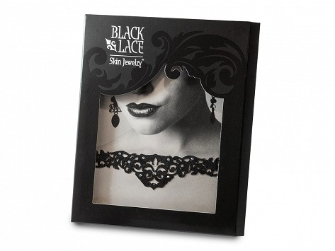 gothic design temporary tattoos by black lace skin jewelry
