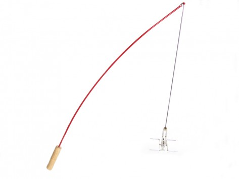 Grilling accessories the fishing pole roaster from firebuggz for Fire fishing pole