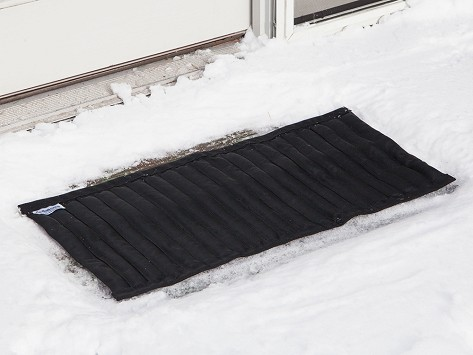Saltnets snow melting mats for Best doormat for snow