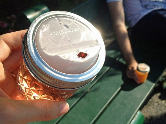 Cuppow - To-Go Lid for Mason Jars