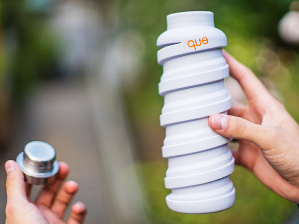 Que Collapsible Slicone Water Bottle