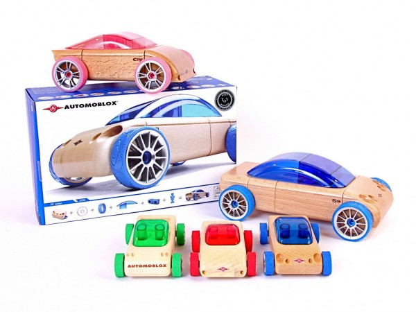 Wooden Toy Parts Catalog : Automoblox wooden toy cars with interchangeable parts