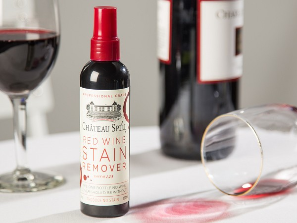 red wine stain remover by chateau spill. Black Bedroom Furniture Sets. Home Design Ideas