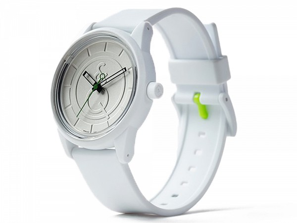 Q q watches solar powered watch white silver for Q q watches