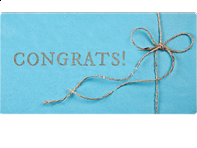 Email Gift Card: Congratulations!