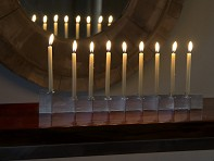 Lumanella: Menorah One with candles