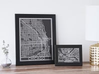 Cut Maps: Stainless Steel City Map
