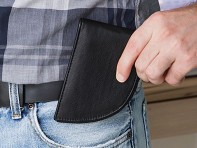 Rogue Industries: Bison Leather Front Pocket Wallet