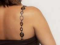 Faceted Jewelry Bra Straps