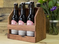 Wood Thumb: Wooden 6 Pack Carrier