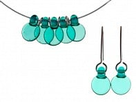 FormFire Glassworks: Set of Droplet 5 Disc & Earrings