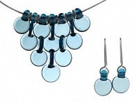FormFire Glassworks: Set of Interlaced Droplet 7 Disc & Earrings