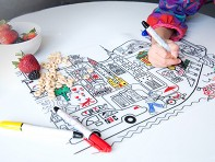 Modern-twist Mark-Mat: Dry-Erase Placemats