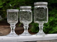 Fancy Rednecks: Mason Jar Wine Glasses