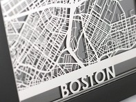 Cut Maps: Stainless Steel Table Maps