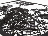 Cut Maps: Laser Cut Maps of International Cities