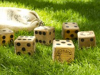 Snake Eyes: Wooden Yard Dice