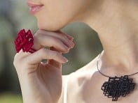 Melissa Borrell: Square Pendant Necklace