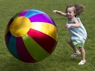"Y'all Ball: X-Large (32"") Multicolor Beach ball"