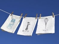 The Coin Laundry Flour Sack Kitchen Towel: Set of Two