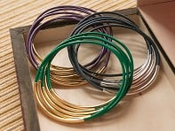 Leather Wraps: Bangle Bracelets
