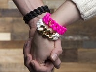 Rubbs: Silicone Bracelet  with Gold Metal