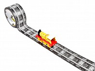 InRoad Toys: PlayTape - Classic Railroad Track (60ft x 2in)