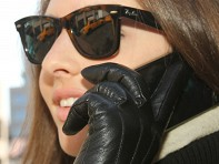 Glove.ly: Womens Leather Touchscreen Gloves