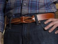 Lombardi Leather: Buckleless Belt