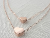 Olive Yew Jewels: Double Strand Heart Necklace