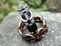 Trades of the East: Woven Ring Leather Bracelet