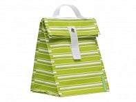 LunchSkins: Green Stripe Lunch Tote