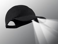 PowerCap: LED Lighted Hat - Black