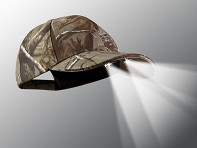 PowerCap: LED Lighted Hat - Gray Camo