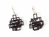 Melissa Borrell: Square Dangle Earrings