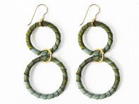 Lauren Wimmer Jewelry: Irene Earrings (Mossy Green)