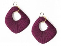 Wilma Earrings (Garnet Red)