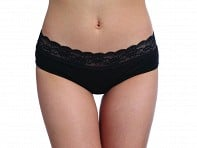 Thinx Performance Underwear: Hiphugger - Black
