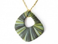 Lauren Wimmer Jewelry: Wilma Necklace (Mossy Green)