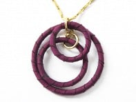 Lauren Wimmer Jewelry: Stefana Necklace (Garnet Red)