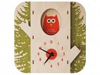 Modern Moose: Tree Owl Clock