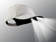 PowerCap: LED Lighted Hat - Stone