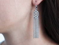 Liquid Metal: Mesh Fringe Chandelier Earrings & Collection Bag