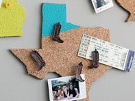 Brit + Co.: State-Shaped Memo Board Kit
