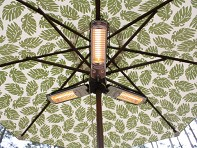 Well Traveled Living: Umbrella Patio Heater - Electric Halogen