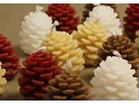 GreenTree Home: Set of 4 Wee Pinecone Candles