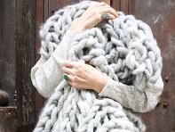 Loopy Mango: Merino Double Rib Throw Knitting Kit