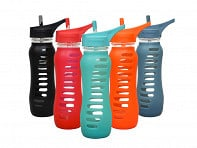Eco Vessel: SURF SPORT Glass Water Bottle - Case of 6