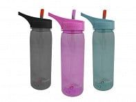 Eco Vessel: WAVE Tritan Plastic Bottle - Case of 6